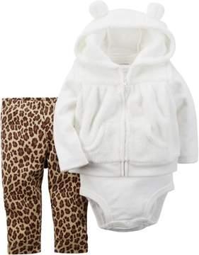 Carter's Baby Girls 3-pc. Cheetah Vest Set