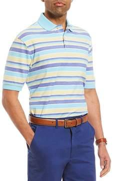 Daniel Cremieux Striped Oxford Pique Short-Sleeve Polo Shirt