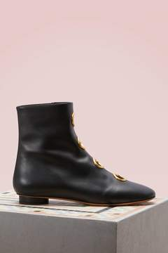 Valentino Leather Boots With Grommets