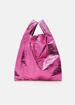MM6 MAISON MARGIELA Mirror Synthetic Leather Bag Fuxia Size: One Size