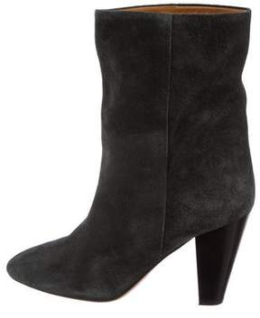 Etoile Isabel Marant Suede Round-Toe Ankle Boots