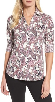 Foxcroft Women's Mary Paisley Wrinkle Free Shirt