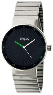 Simplify The 4600 SIM4601 Silver Stainless Steel Analog Watch
