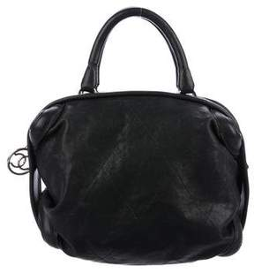Chanel Diamond Quilted Essential Bowler Bag