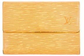 Louis Vuitton Epi Porte Trèsor Etui Papiers Wallet - YELLOW - STYLE