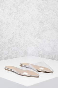 Forever 21 Clear Pointed Toe Flats