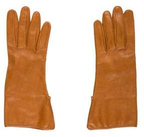 Burberry Leather Wrist Gloves