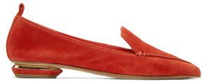 Nicholas Kirkwood Red Suede Beya Loafers