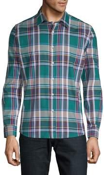 Hyden Yoo Men's Tartan Cotton Button-Down Shirt