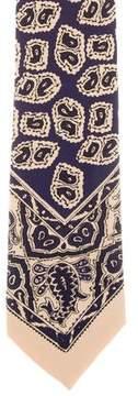 Ralph Lauren Purple Label Printed Silk Tie