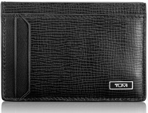 Tumi Men's 'Monaco' Leather Money Clip Card Case - Black