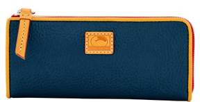 Dooney & Bourke Patterson Leather Zip Clutch Wallet - MIDNIGHT BLUE - STYLE
