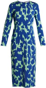 Diane von Furstenberg Long-sleeved stretch-cady pencil dress