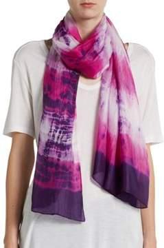 La Fiorentina Tie-Dyed Silk Stripe Scarf