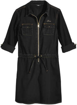 GUESS Zip-Front Denim Cotton Dress, Big Girls (7-16)