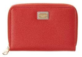 Dolce & Gabbana Smal Dauphine Leather Zip Around Wallet. - RED - STYLE