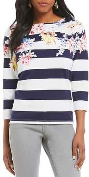 Joules Harbour Stripe Floral Print Top