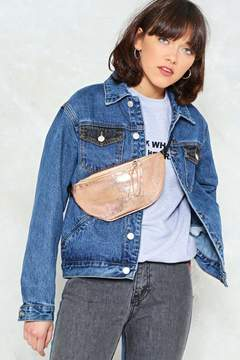 Nasty Gal WANT Keep Your Friends Close Metallic Fanny Pack