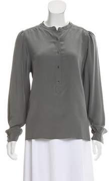 MiH Jeans Silk Long Sleeve Top