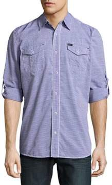 Buffalo David Bitton Siham Stripe Button-Down Shirt