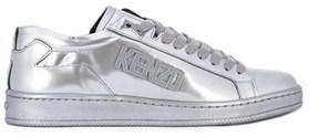 Kenzo Men's Silver Leather Sneakers.