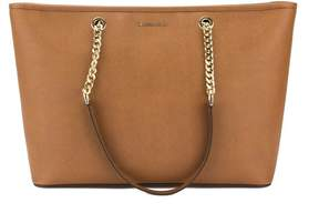 Michael Kors Luggage Saffiano Leather Jet Set Travel Chain Multi Function Tote - TAN - STYLE