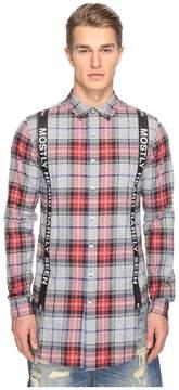 Mostly Heard Rarely Seen Suspender Runner Plaid Shirt
