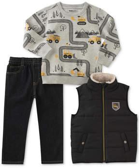Kids Headquarters 3-Pc. Top, Vest & Jeans Set, Little Boys (4-7)