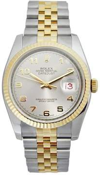Rolex Oyster Perpetual Datejust 36 Silver Dial Stainless Steel and 18K Yellow Gold Jubilee Bracelet Automatic Men's Watch 116233SAJ