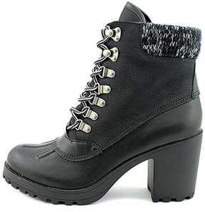 Rock & Candy Womens Mila Fabric Almond Toe Ankle Platform Boots.