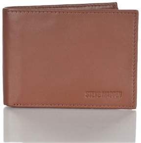 Steve Madden Mens Glove Leather RFID Blocking Passcase Wallet