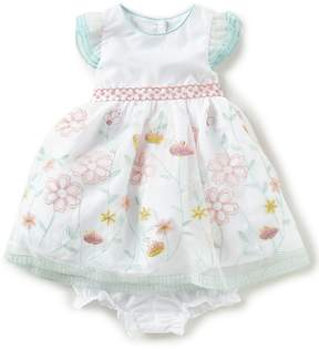Laura Ashley London Baby Girls 12-24 Months Floral-Embroidered Fit-And-Flare Dress