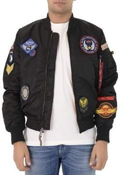 Alpha Industries Men's Black Polyester Outerwear Jacket.