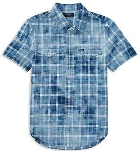Polo Ralph Lauren Boys' Tie-Dyed Western Shirt - Big Kid