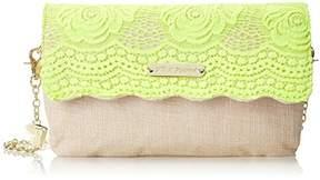 Betsey Johnson Lace Over Shoulder Bag