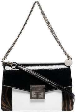 Givenchy Black G3 Zebra Print Patent Leather Bag