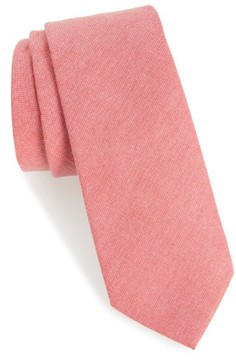 1901 Men's 'Tucci' Solid Cotton Tie