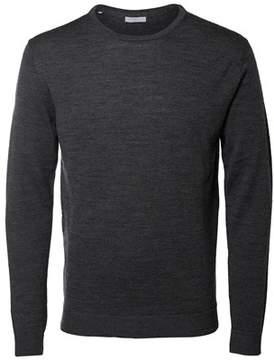 Selected Men's Grey Wool Sweater.