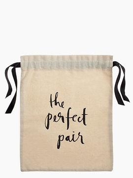 Kate Spade The perfect pair shoe bag - NATURAL - STYLE