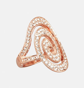 Avenue Rhinestone Swirl Stretch Ring