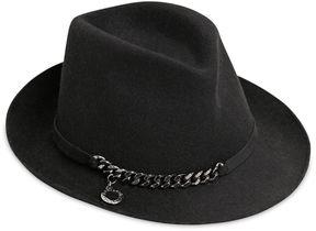 Stella McCartney Metal Chain Wool Felt Hat