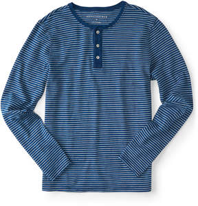 Aeropostale Long Sleeve Thin Stripe Henley