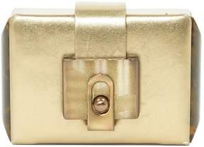 Lanvin Gold Leather Clutch Bag
