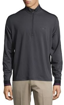 Callaway Opti-Therm Quarter-Zip Textured Band Pullover Golf Jacket