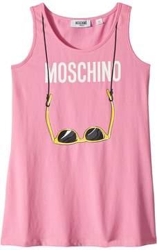 Moschino Kids Logo Sunglasses Graphic Tank Top Girl's Sleeveless