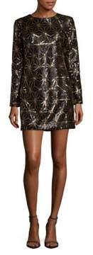 Dress the Population Bailey Long-Sleeve Textured Dress