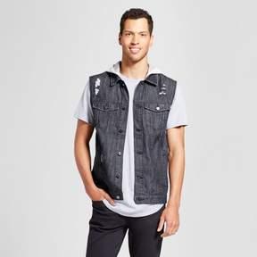 Jackson Men's Destructed Trucker Vest Black/Natural