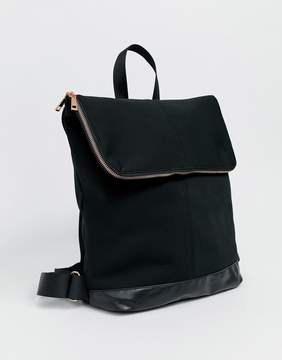 Asos DESIGN backpack with rose gold zip