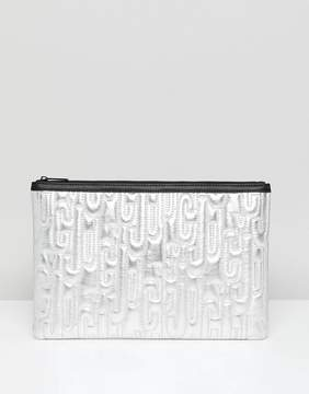 Juicy Couture Juicy By Metallic Embossed Logo Clutch Bag