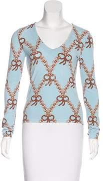 Blumarine Embellished V-Neck Sweater